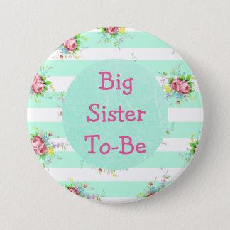 Bóton Redondo 7.62cm Irmã a ser rosa do verde da hortelã do botão do