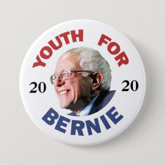 Bóton Redondo 7.62cm Juventude para Bernie 2020