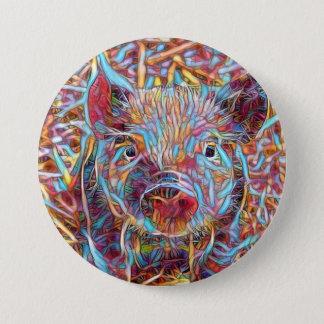 Bóton Redondo 7.62cm Leitão funky animal de ArtStudio-