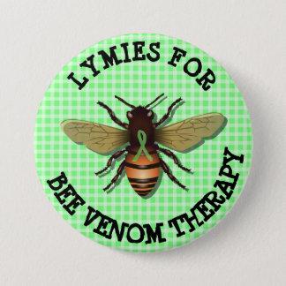 Bóton Redondo 7.62cm Lymies para o botão da terapia do veneno da abelha