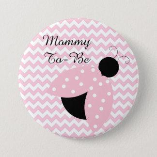 """Bóton Redondo 7.62cm """"Mamães a ser"""" botão cor-de-rosa do chá de fraldas"""