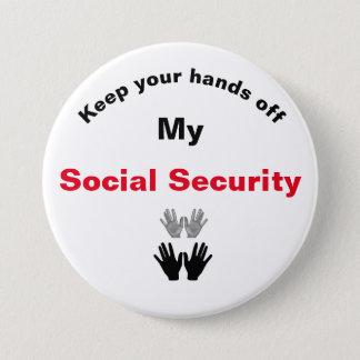 Bóton Redondo 7.62cm Mantenha suas mãos fora de meu botão da segurança
