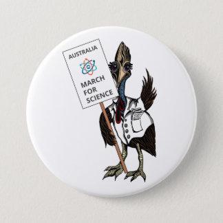 Bóton Redondo 7.62cm Março para a ciência Austrália - Cassowary -