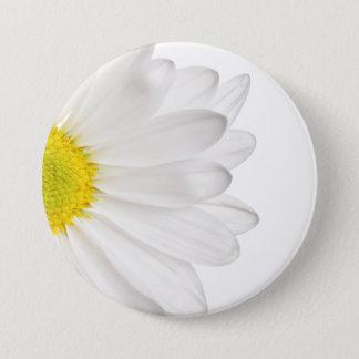 Bóton Redondo 7.62cm Margaridas personalizadas fundo da flor da