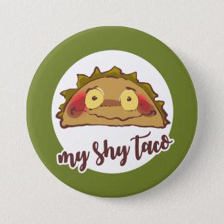 Bóton Redondo 7.62cm meus desenhos animados engraçados do taco tímido