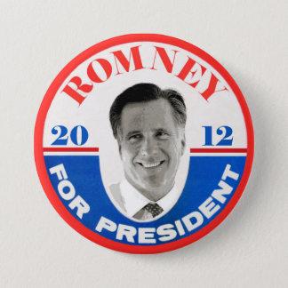 Bóton Redondo 7.62cm Mitt Romney para o presidente 2012