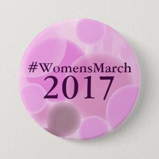 Bóton Redondo 7.62cm Mulheres botão do março de 2017