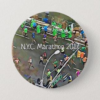 Bóton Redondo 7.62cm N.Y.C. Botão dos corredores & dos voluntários da