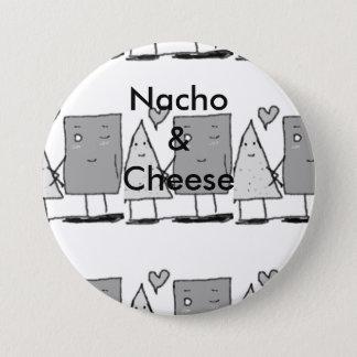 Bóton Redondo 7.62cm Nacho e queijo