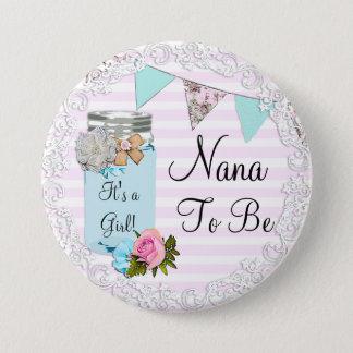 Bóton Redondo 7.62cm Nana a ser botão rústico azul do frasco de