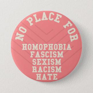 Bóton Redondo 7.62cm Nenhum lugar para citações da homofobia