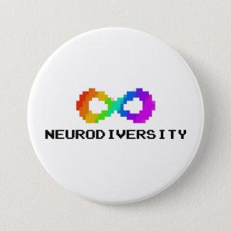 Bóton Redondo 7.62cm Neurodiversity de 8 bits com texto