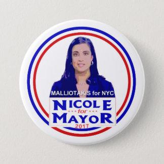 Bóton Redondo 7.62cm Nicole Malliotakis para o Mayor de NYC