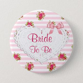 Bóton Redondo 7.62cm Noiva chique floral para wedding o botão