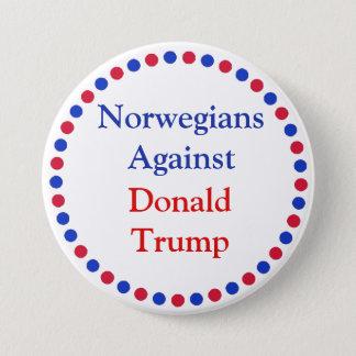 Bóton Redondo 7.62cm Noruegueses contra o botão de Donald Trump