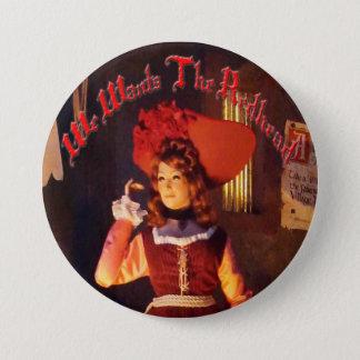 Bóton Redondo 7.62cm Nós queremos o Redhead botão de 3 polegadas