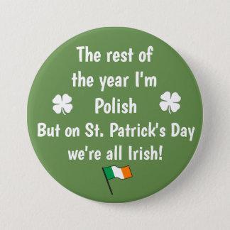 Bóton Redondo 7.62cm Nós somos todo o botão customizável irlandês