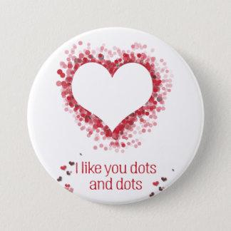 Bóton Redondo 7.62cm O botão dos namorados Dotty
