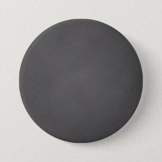 Bóton Redondo 7.62cm O conselho de giz cinzento do preto do fundo do