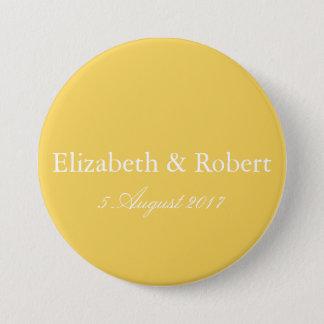 Bóton Redondo 7.62cm O desenhista 2017 da primavera de colore o amarelo