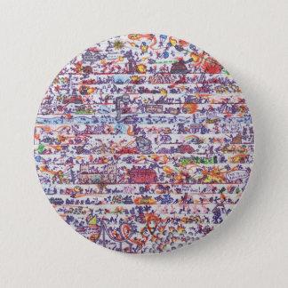 Bóton Redondo 7.62cm O Doodle guerreia crachá do botão