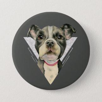"""Bóton Redondo 7.62cm O """"filhote de cachorro Eyes"""" a aguarela do cão do"""