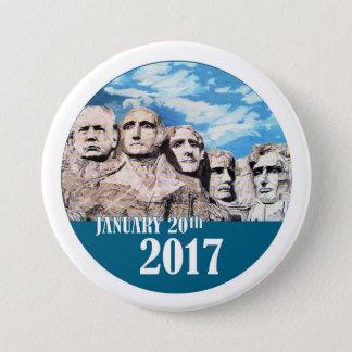 Bóton Redondo 7.62cm O Monte Rushmore, o 20 de janeiro de 2017