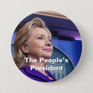 Bóton Redondo 7.62cm O presidente do pessoa: Hillary 2016