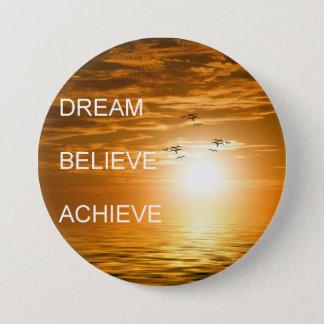 Bóton Redondo 7.62cm o sonho acredita consegue citações inspiradores
