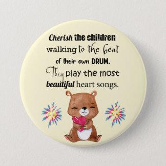 Bóton Redondo 7.62cm O Special precisa os miúdos inspirados, canções do
