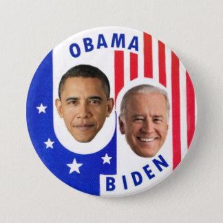 Bóton Redondo 7.62cm Obama Biden