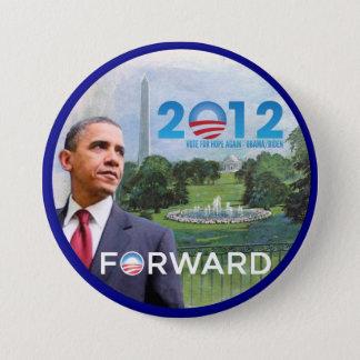 Bóton Redondo 7.62cm Obama em Washington 2012