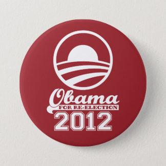 Bóton Redondo 7.62cm OBAMA para o botão 2012 da campanha da Re-Eleição