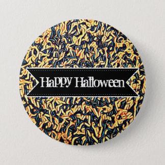 Bóton Redondo 7.62cm Os doces coloridos felizes do Dia das Bruxas