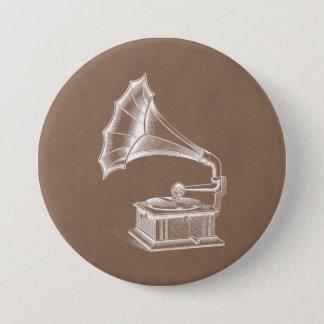 Bóton Redondo 7.62cm Pergaminho do Musical do jogador gravado de