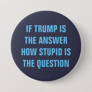 Bóton Redondo 7.62cm Pergunta 2016 engraçada para eleitores do GOP