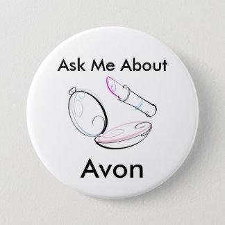 Bóton Redondo 7.62cm Pergunte-me sobre Avon - botão redondo