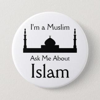 Bóton Redondo 7.62cm Pergunte-me sobre o Islão