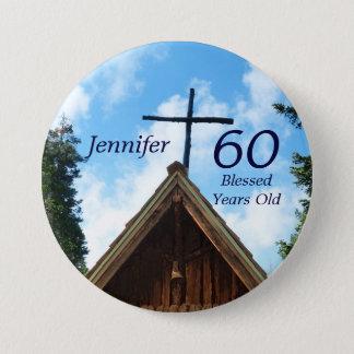 Bóton Redondo 7.62cm Pin abençoado do botão da igreja do país de origem