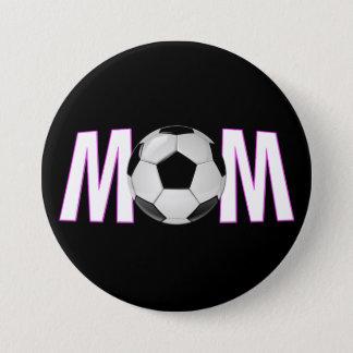 Bóton Redondo 7.62cm Pin cor-de-rosa & preto bonito do botão da mamã do