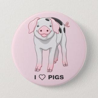 Bóton Redondo 7.62cm Porco velho bonito dos pontos de Gloucestershire