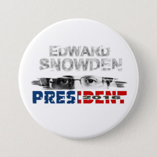 Bóton Redondo 7.62cm Presidente 2016 de Edward Snowden