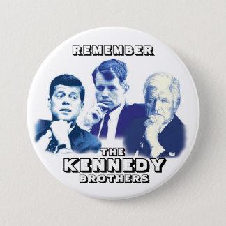 Bóton Redondo 7.62cm Recorde os irmãos de Kennedy