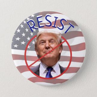 Bóton Redondo 7.62cm RESISTA botão de Donald Trump do protesto o anti