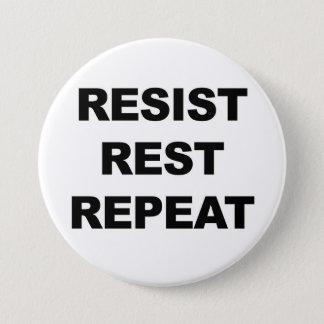 Bóton Redondo 7.62cm Resista, descanse, repita, proteste!