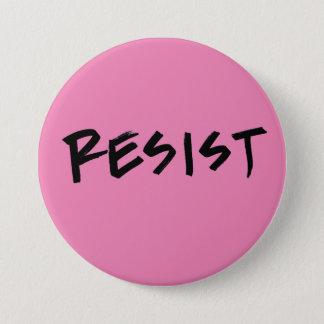 Bóton Redondo 7.62cm Resista o botão, grande cor-de-rosa ou escolha a
