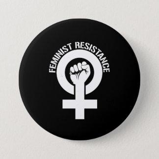 Bóton Redondo 7.62cm Resistência feminista - resistência feminista --