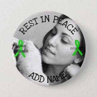 Bóton Redondo 7.62cm Resto no botão personalizado da doença de Lyme da