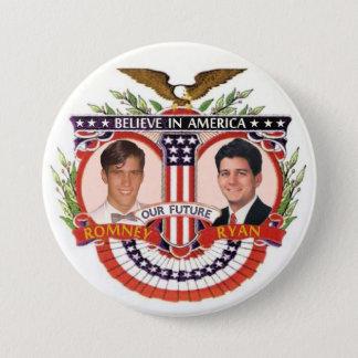 Bóton Redondo 7.62cm Romney & Ryan: O R&R Kidz