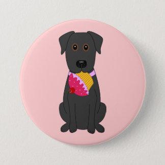 Bóton Redondo 7.62cm Rosa doce do cão